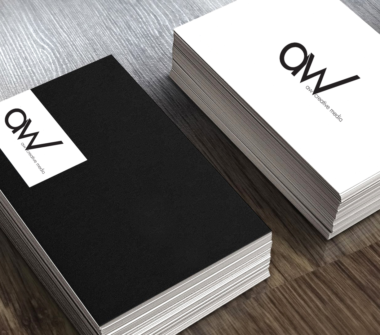 Printed custom business cards with logo