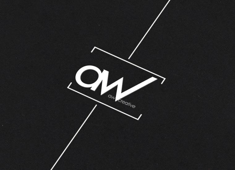 AW Creative Media logo in black and white
