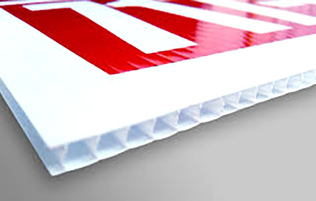 AW Creative provides printed corrugated fluted choroplast signs