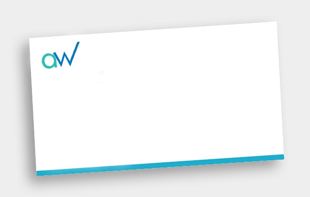 AW Creative designs custom envelopes