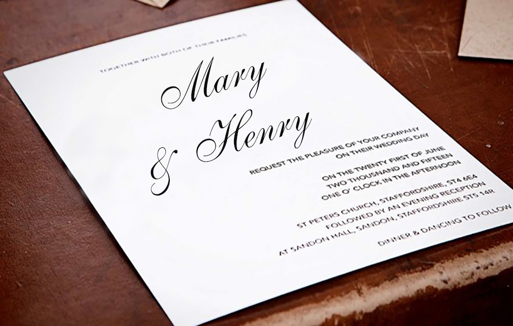 AW Creative designs and prints wedding invitations