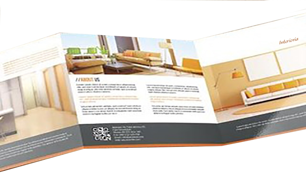 Graphic design of large sized tri-folded brochure