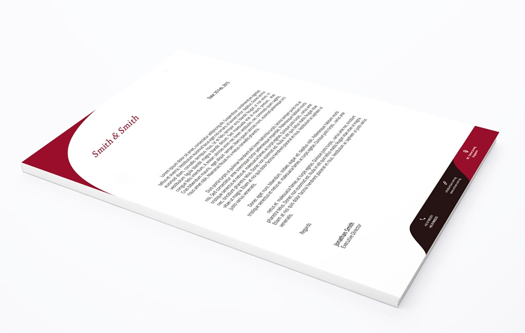 Custom graphic design of letterheads and stationary