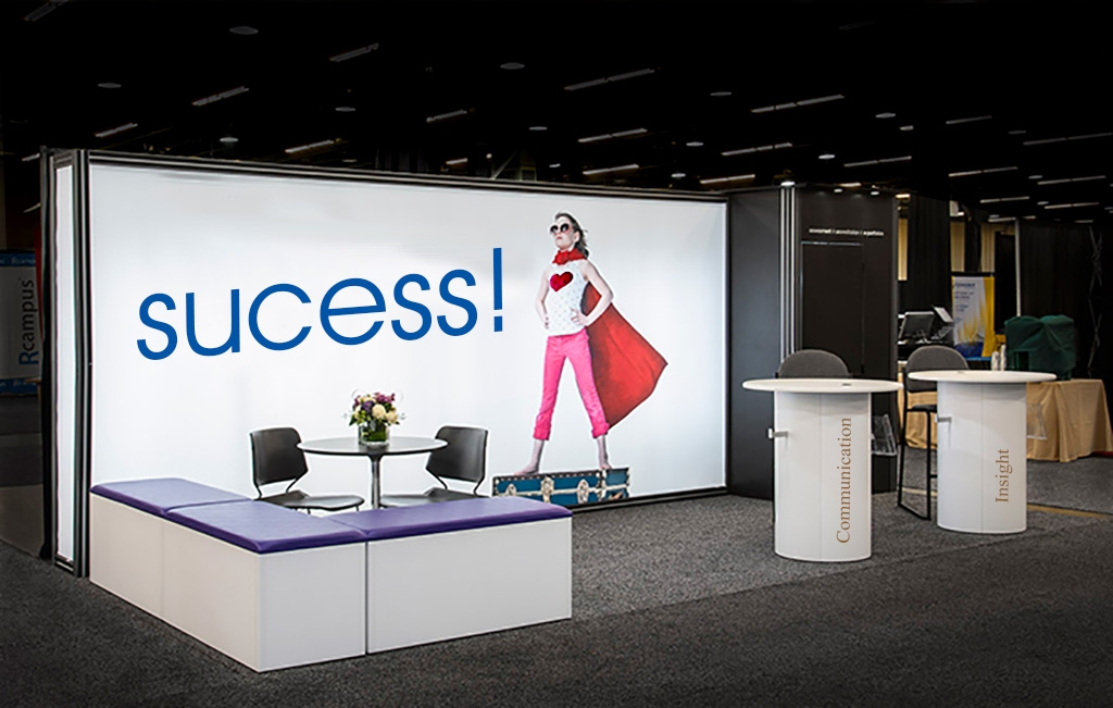 Marketing booth design and trade show image