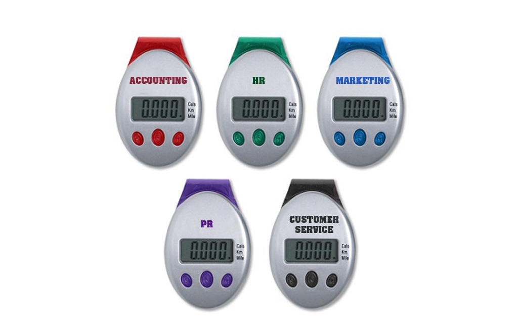 AW Creative provides printed pedometers and promotional items
