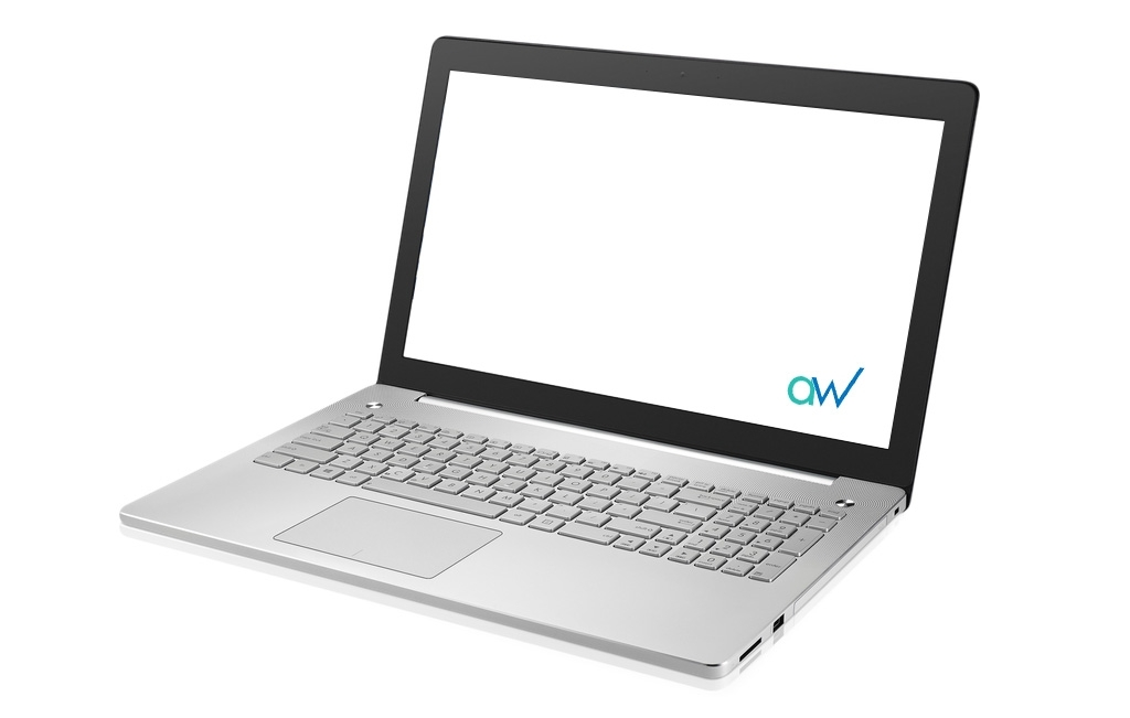 Image of laptop showing AW Creative Web Design Services