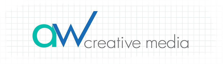 AW Creative Media design Logo on Grid